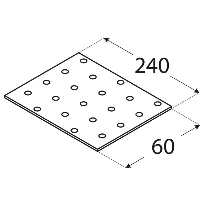 SAVIENOJUMU PLATE  240x60x2.0 mm