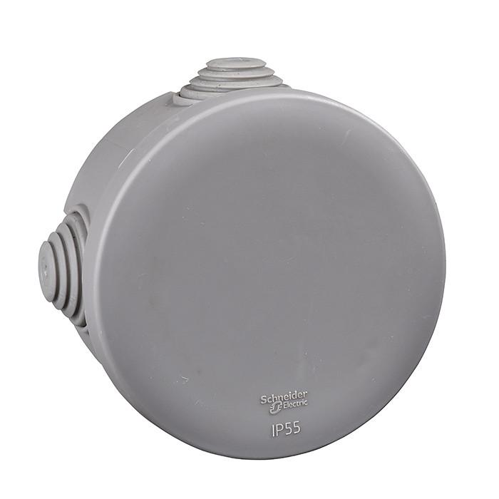 Junction Box / Apparatus Box SCH round IP-55 D-65x45mm gray