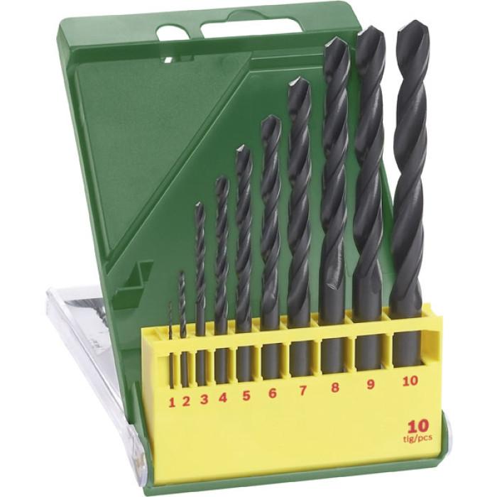 Bosch 2607019442 Twist Drill Set HSS-R DIN 338 Straight Shank 1 - 10mm 10-pcs