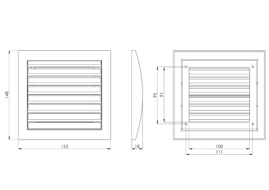 ventilationgrilleplastic,148x153mm