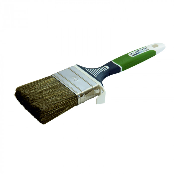 COLOR EXPERT Flat brush 60mm, gr.9mm, PBT, grey-green/CN bristle,3K hand.