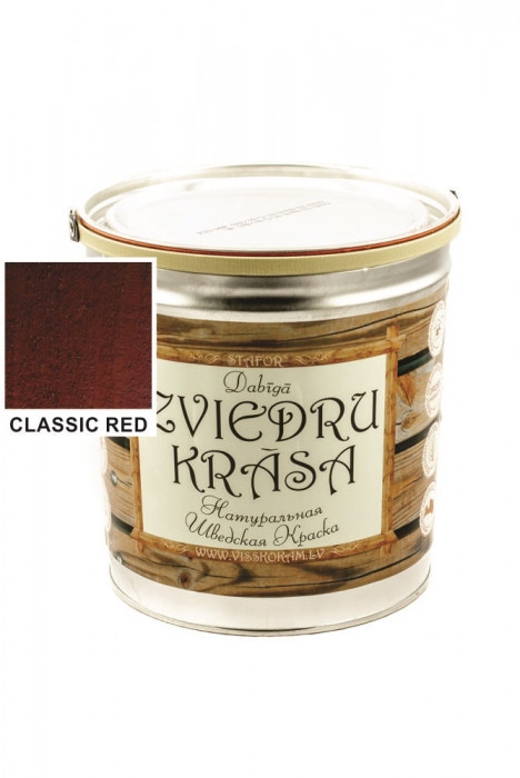 Stafor Natural SWEDISH Paint 3L red