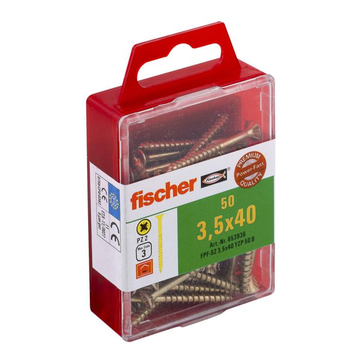 FISCHER Шурупы по дереву FPF-SZ 3,5x40 YZ 50шт / упак. 653936