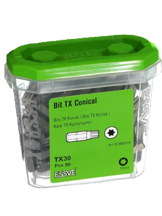Screwdriving bits ESSVE TX30X25 ESSBOX  50pcs. 9996009