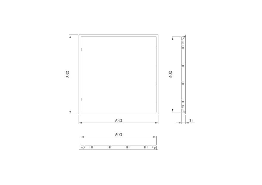 inspectionhatchmetal,600x600mm