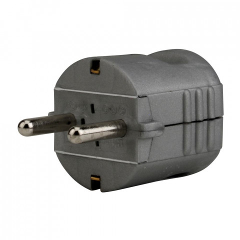 Kontaktdakša ar zemi 16A 250V  sudraba