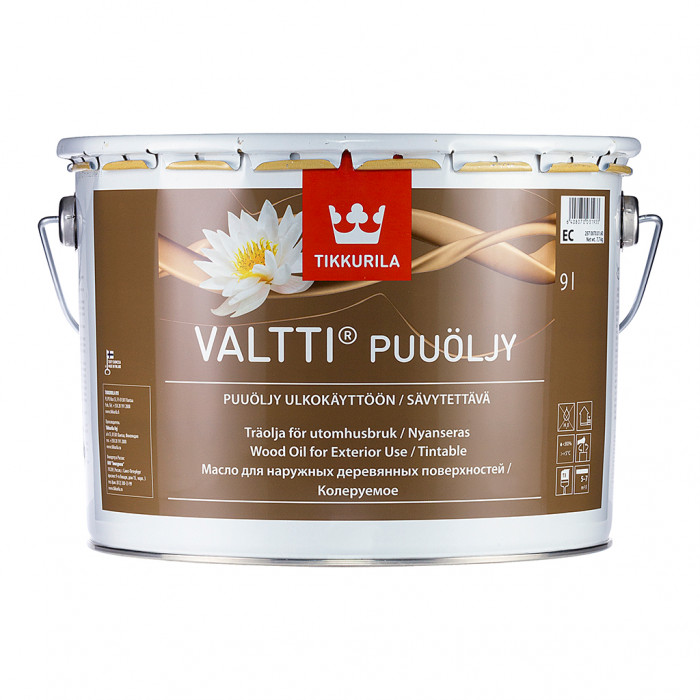 Tikkurila VALTTI-PUUOLJY 9L Solvent-borne wood oil for outdoor use