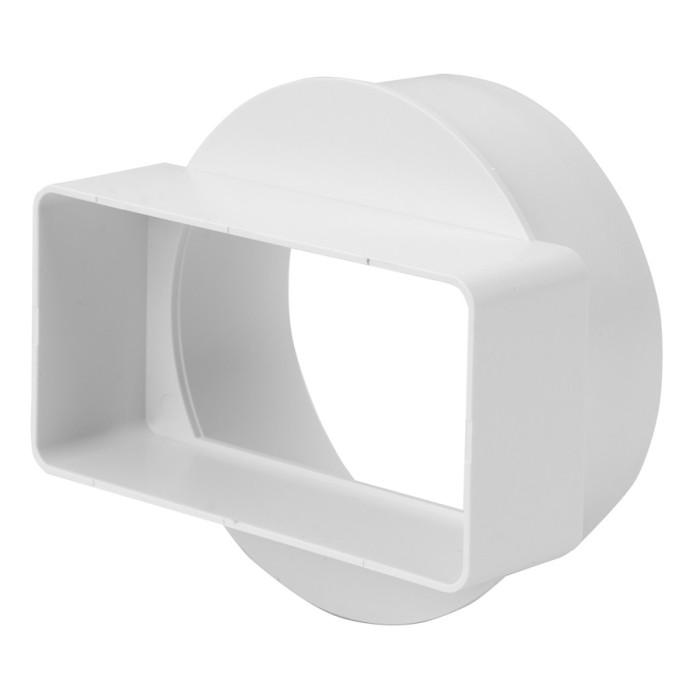 transitionjointtothecircularduct(short)plastic,110x55mm,Ø100mm