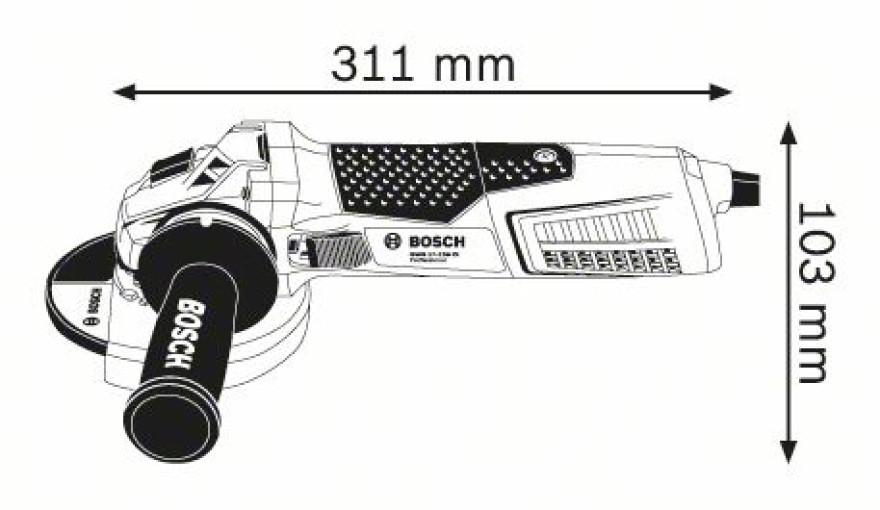 Leņķa slīpmašīna GWS 17-125 CI 1700W, BOSCH 060179G002