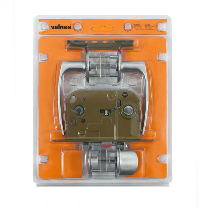 WC Lock set VALNES with screw and handle, chrome