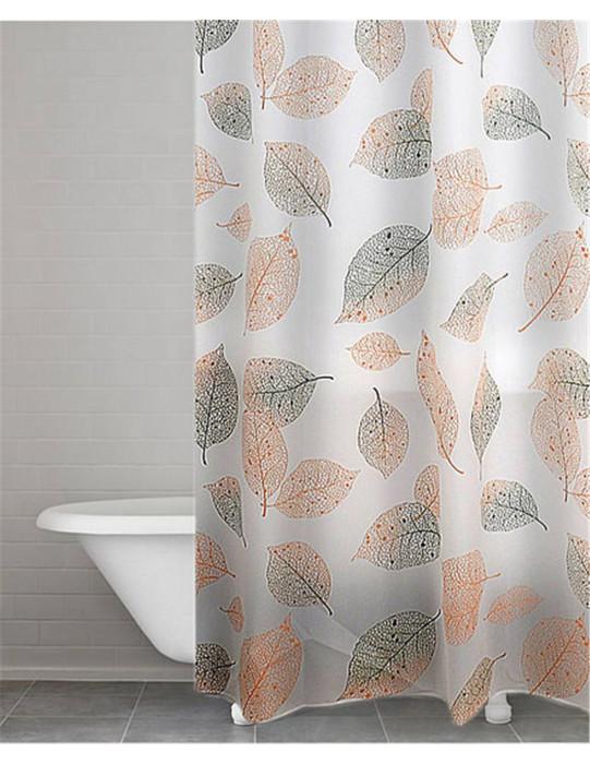 Ridder Vannas istabas un dušas vinila aizkari 180x200cm Fallin green-brown