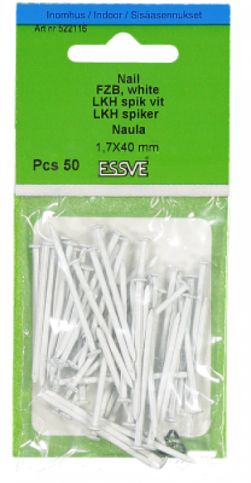 Essve Wire Nails Zn White 1.7x40 50pcs. 522116