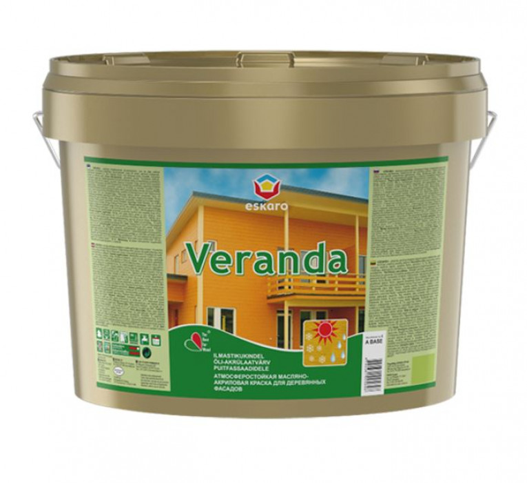 Eskaro VERANDA 2.8L Dzeltena krāsa koka fasādēm