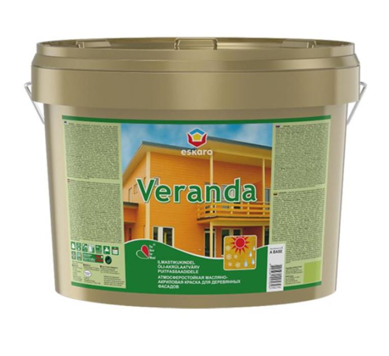 Eskaro VERANDA 2.75L Brūna krāsa koka fasādēm
