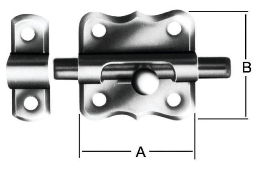 Grendel bolts 35x35mm Steel / ZN