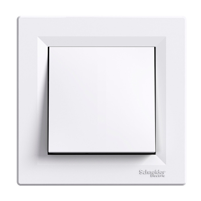 Asfora - 1pole switch, white
