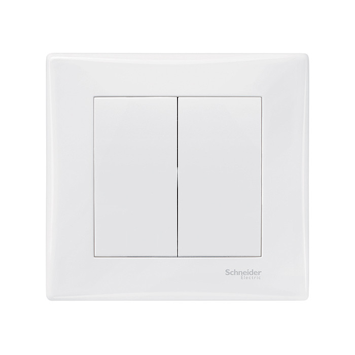 SEDNA - Double 2-way switch white
