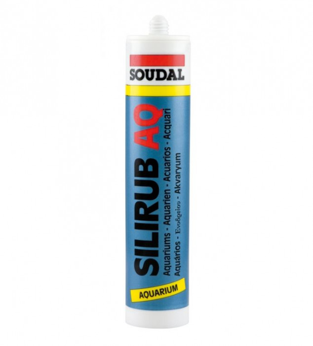 Soudal SILIRUB AQ clear 310ml sealant for aquariums
