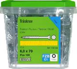 Skrūve kokam ESSDRIVE 6.0X70mm Zn 100gab/iep., ESSVE 136142