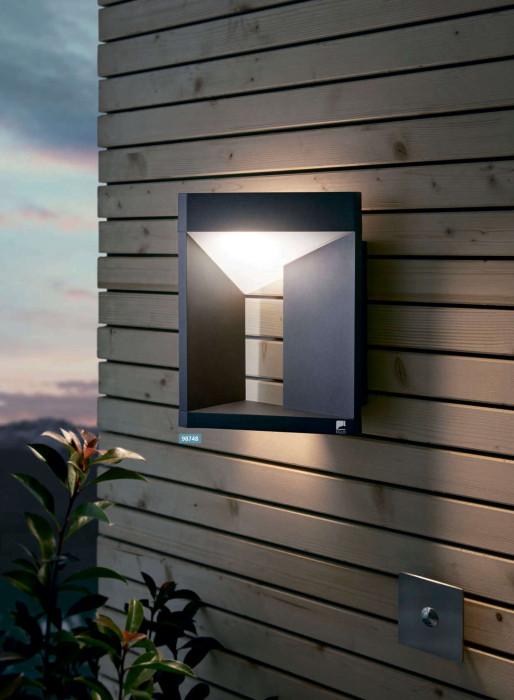 Настенный светильник для улицы EGLO Nembro LED 10W IP54 черный 98748