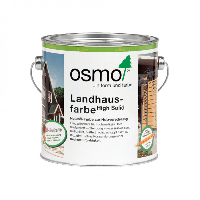 Osmo 2703 Landhausfarbe 0.75L Charcoal paint for wooden surfaces