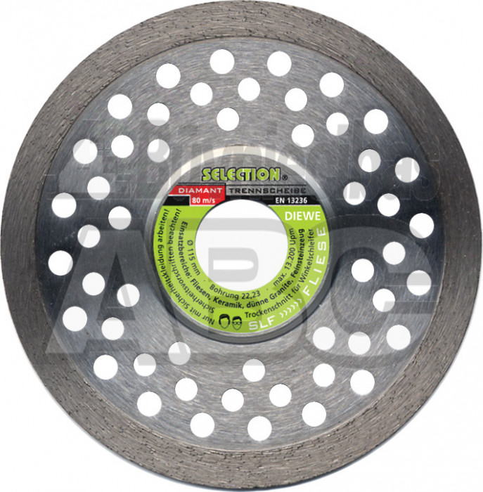 Dimanta ripa Flīzēm DIEWE 125/22.2mm SLF