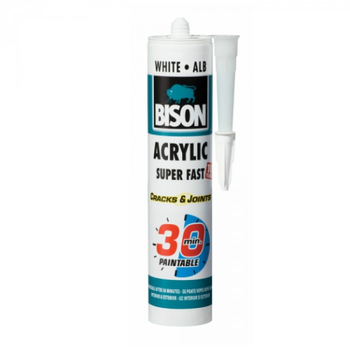 Bison ACRYLIC Super Fast Sealant 30 MINUTES 300ml