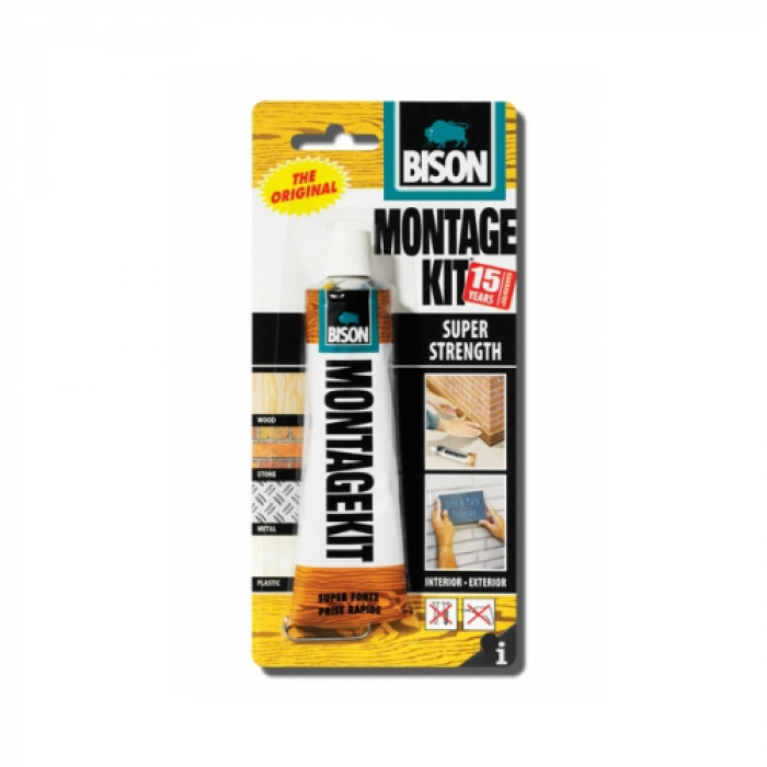 Bison MONTAGE KIT Super Strength 125g adhesive