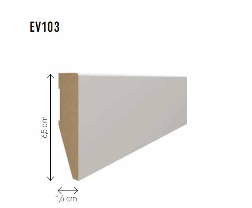 Skirting board MDF Evera 65 dark gray EV103 65x16x2400mm