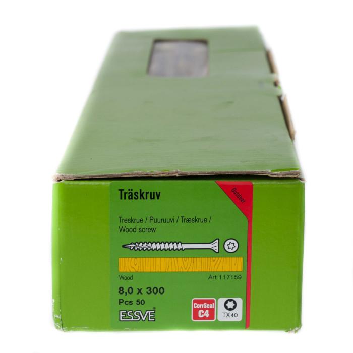 Essve skrūve cutters 8x300mm ārdarbiem CS 50gab/iep., 117159