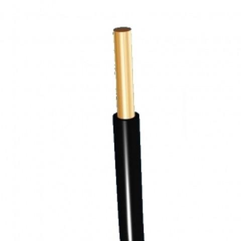 Vads monolītais viendzīslas  1.5mm2 melns H07V-U