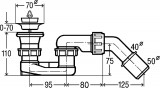 312138 Viega Dušas/vannas  sifons ar ventili
