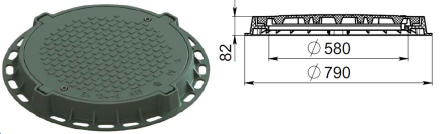 Lūka PLASTIK 790P zaļa  Zālājam un trotuāram (1.5 tn)