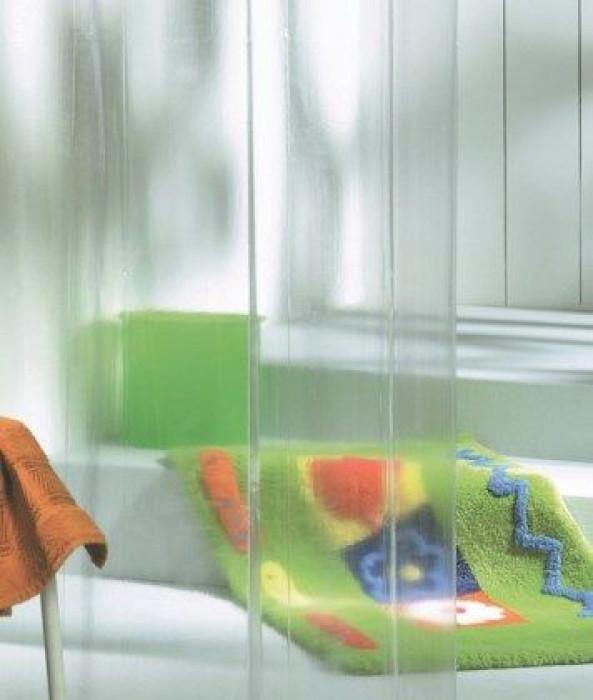 CLEAR shower curtain vinyl, translucent, 180x200cm