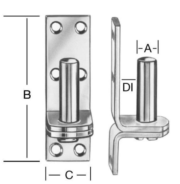 Pulley block 10x85x33mm Steel / ZN