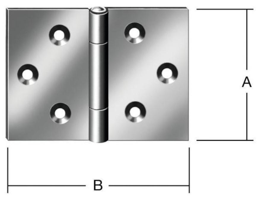 Wide hinges 60x90mm Steel / ZN