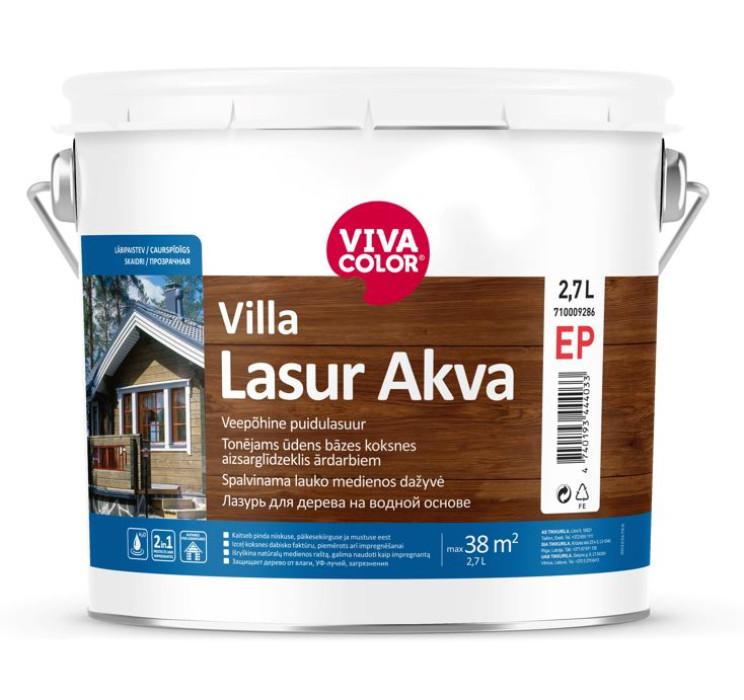 Vivacolor VILLA LASUR AKVA EP 2.7L Waterborne protective wood stain