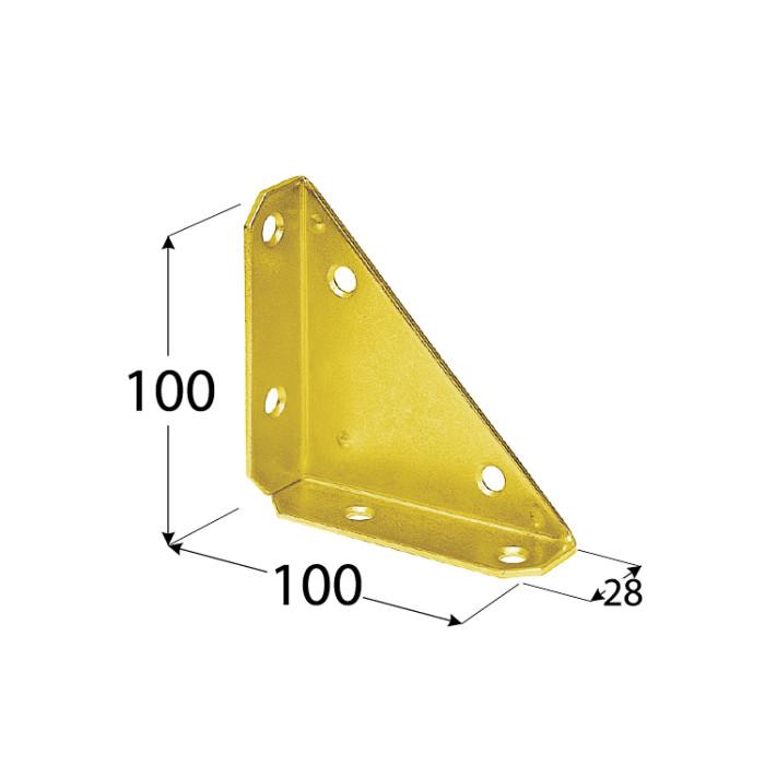 Stūris metāla 100x100mm