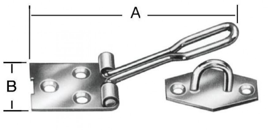 Wire padlock latches 140x35mm Steel/zn