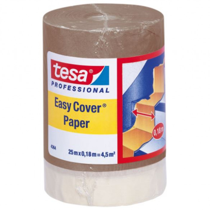tesa 04364 EasyCover 25mx0.18m Masking paper with slightly creped adhesive paper tape
