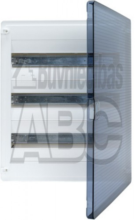 Modular box HAGER GOLF over the wall transparent doors 3 lines each  by 12 modules size 500x282x99  мм