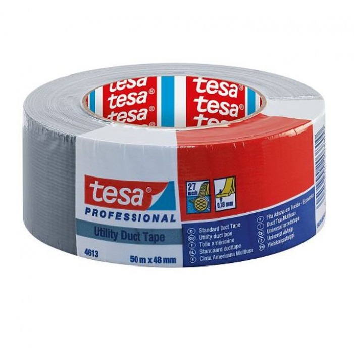 tesa® 4613 is a utility grade duct tape 50mx48mm Grey