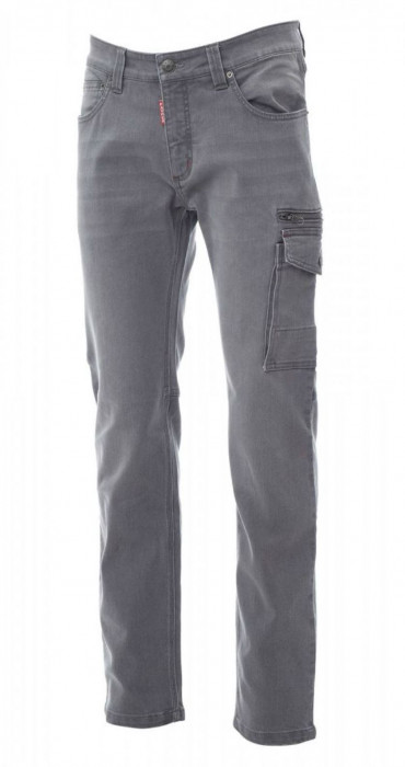Vīriešu džinsu bikses, daudzfunkcionālas kabatas, pelēkas, Izm. 50