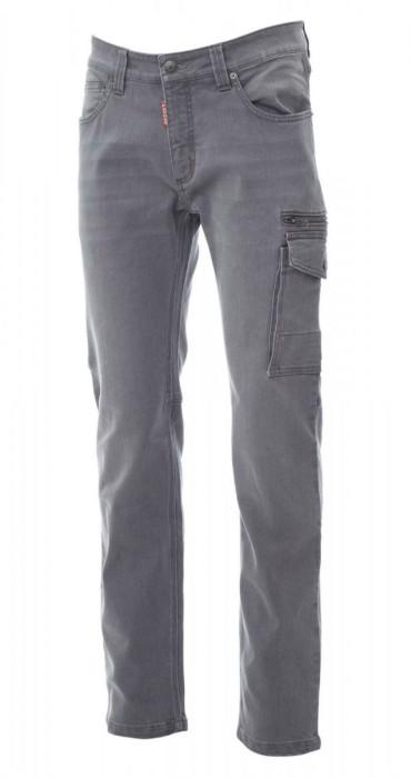 Vīriešu džinsu bikses, daudzfunkcionālas kabatas, pelēkas, Izm. 54