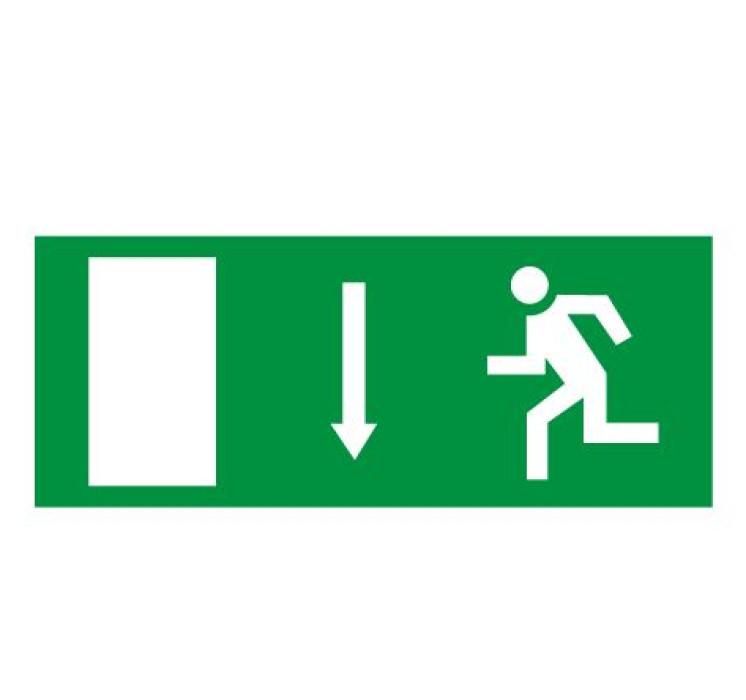 Sticker ''Emergency exit'' (down) 20x8cm