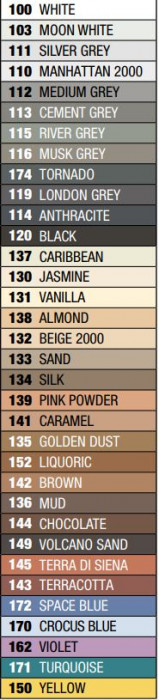 Mapei ULTRACOLOR Plus 111 5kg Šuvju pildmateriāls SILVER GREY šuvotājs