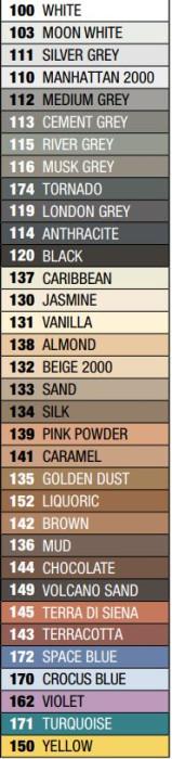 Mapei ULTRACOLOR Plus 103 2kg Šuvju pildmateriāls MOON WHITE šuvotājs