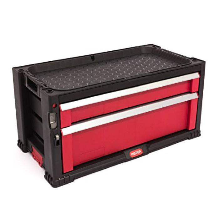 Instrumentu kaste ar 2 atvilknēm