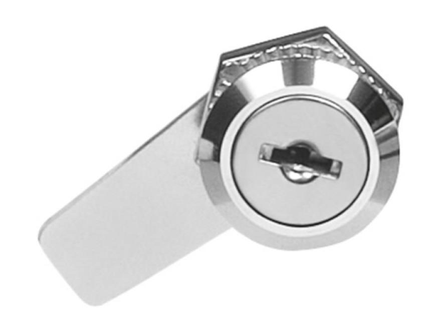 Slēdzene pastkastei, mod. 4A, D18mm, dziļums 20mm, niķelēta