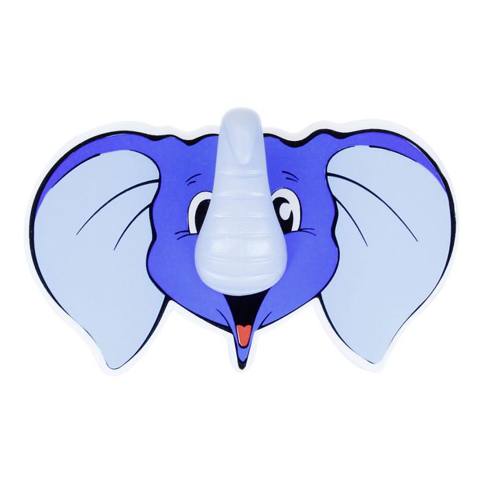 Hook ELEPHANT, self-adhesive,blue